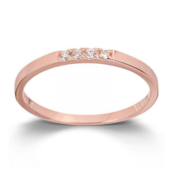 Mestergull Flott ring i rosè gull med cubic zirkonia MESTERGULL Ring