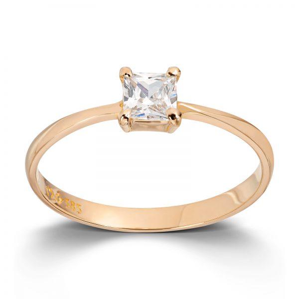 Mestergull Enkel ring i gult gull med cubic zirkonia MESTERGULL Ring