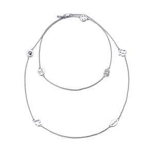 Mestergull Langt kjede i sølv med 7 av Efvas favoritt symboler. EFVA ATTLING Mini Kjede