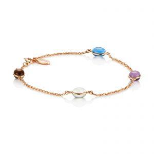 Mestergull Love beads' in silver and gold. - Efva Attling EFVA ATTLING Love Bead Armbånd