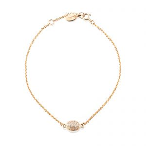 Mestergull Love Beads in 18k gold with diamonds as stars. - Efva Attling EFVA ATTLING Love Bead Armbånd