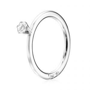 Mestergull Solitaire ring 0.19 ct EFVA ATTLING High On Love Ring