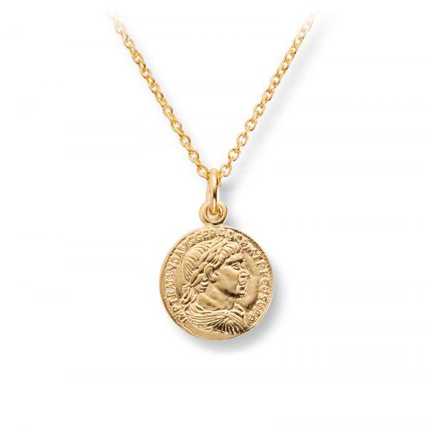 Mestergull Trendy anheng i forgylt sølv med mynt GID Anheng