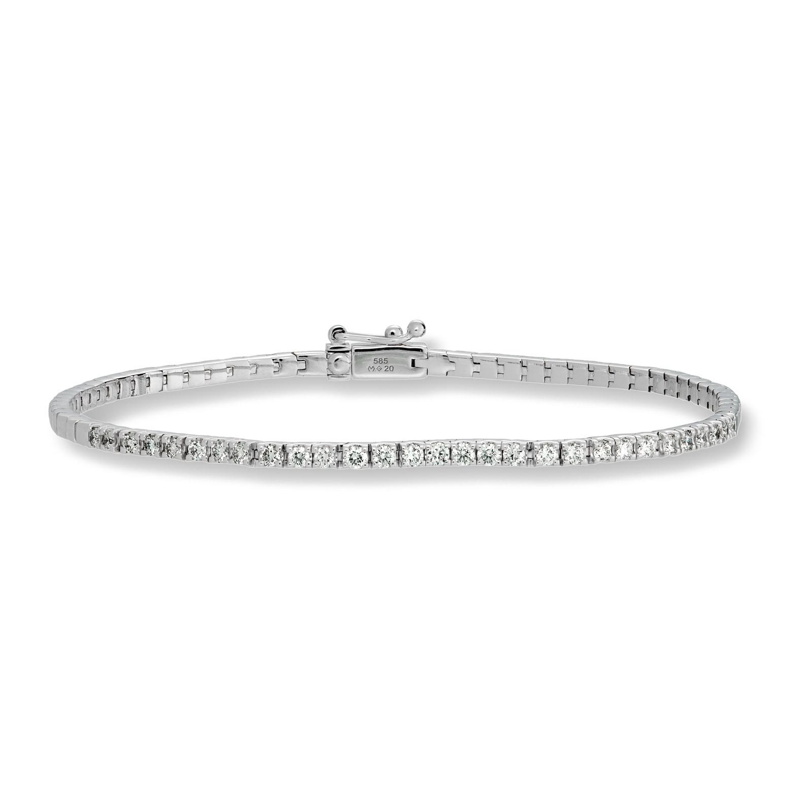 Mestergull Klassisk tennisarmbånd med diamanter MG DIAMONDS Armbånd