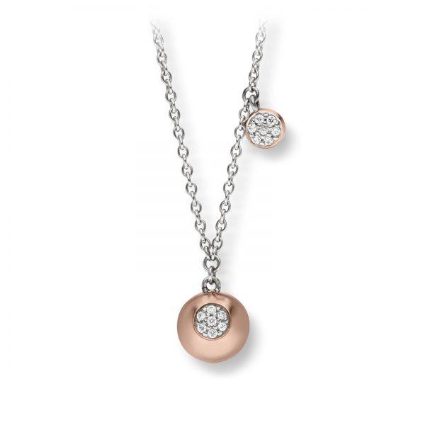 Mestergull Flott kjede i rosè forgylt sølv med cubic zirkonia VIVENTY Kjede