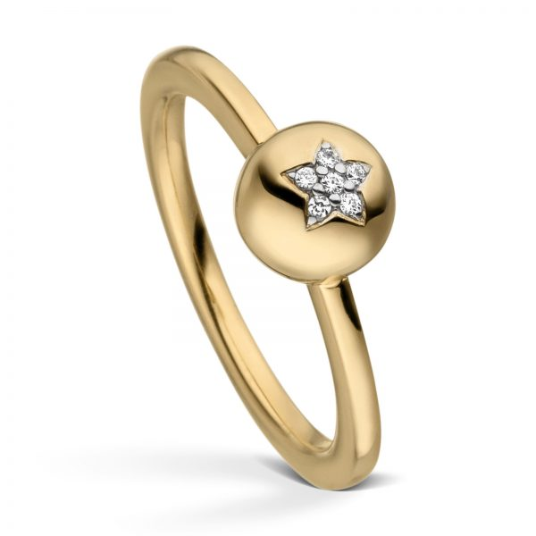 Mestergull Flott ring i forgylt sølv med cubic zirkonia VIVENTY Ring