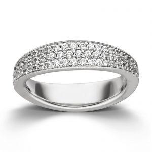 Mestergull Enkel ring i rhodinert sølv med cubic zirkonia VIVENTY Ring