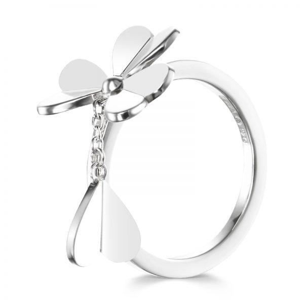 Mestergull Lekker ring i sølv - firkløver EFVA ATTLING Four Clover Ring