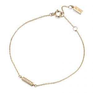 """Mestergull Vakkert armbånd i gult gull med diamanter - """"Simplicity with tiny diamonds"""" - Efva Attling EFVA ATTLING Thin Armbånd"""