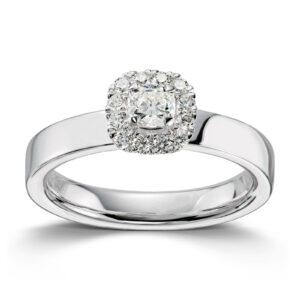 Mestergull Lekker ring i hvitt gull med 13 diamanter totalt 0,40 ct. HSi MG DIAMONDS Ring