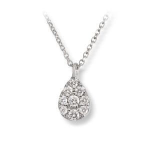 Mestergull Delikat anheng i hvitt gull med diamanter MG DIAMONDS Anheng