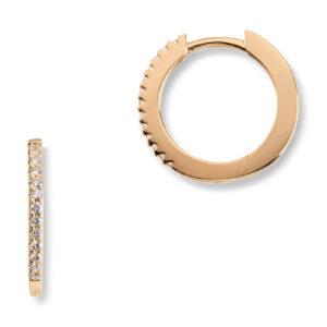 Mestergull Trendy øreringer i gult gull med diamanter MG DIAMONDS Ørepynt