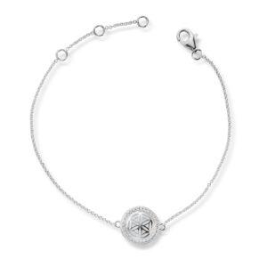 Mestergull Flott armbånd i rhodinert sølv med cubic zirkonia GID Armbånd