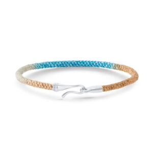 Mestergull Life armbånd med HVITT GULL lås i fargen Cornflower (15, 16, 17, 18, 19, 20 eller 21 cm) LYNGGAARD Life Armbånd