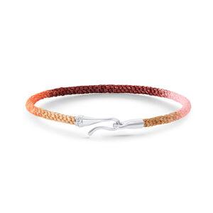 Mestergull Life armbånd med HVITT GULL lås i fargen Berry (15, 16, 17, 18, 19, 20 eller 21 cm) LYNGGAARD Life Armbånd