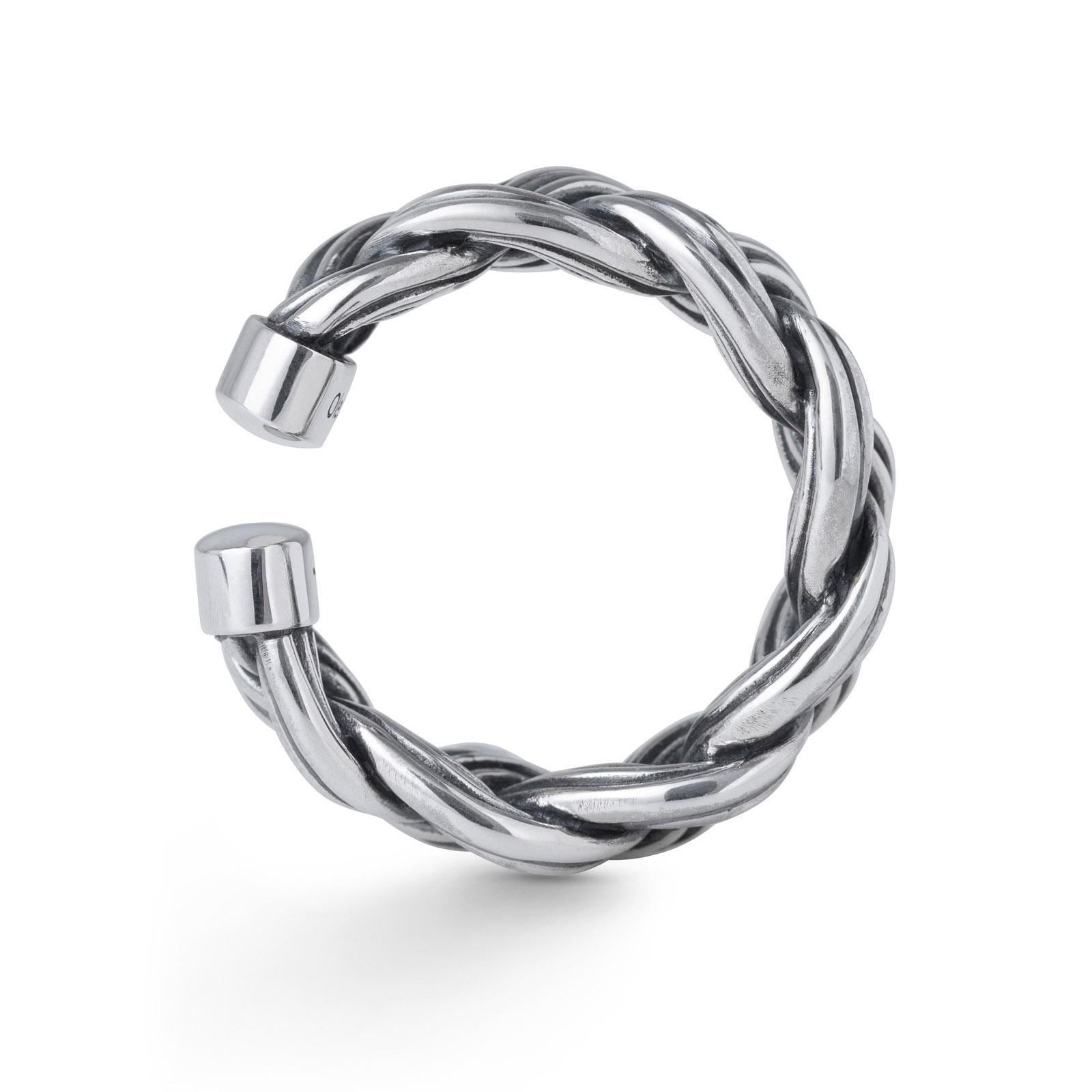 Mestergull Ring Michel i flettet oksidert sølv LYNGGAARD Ring