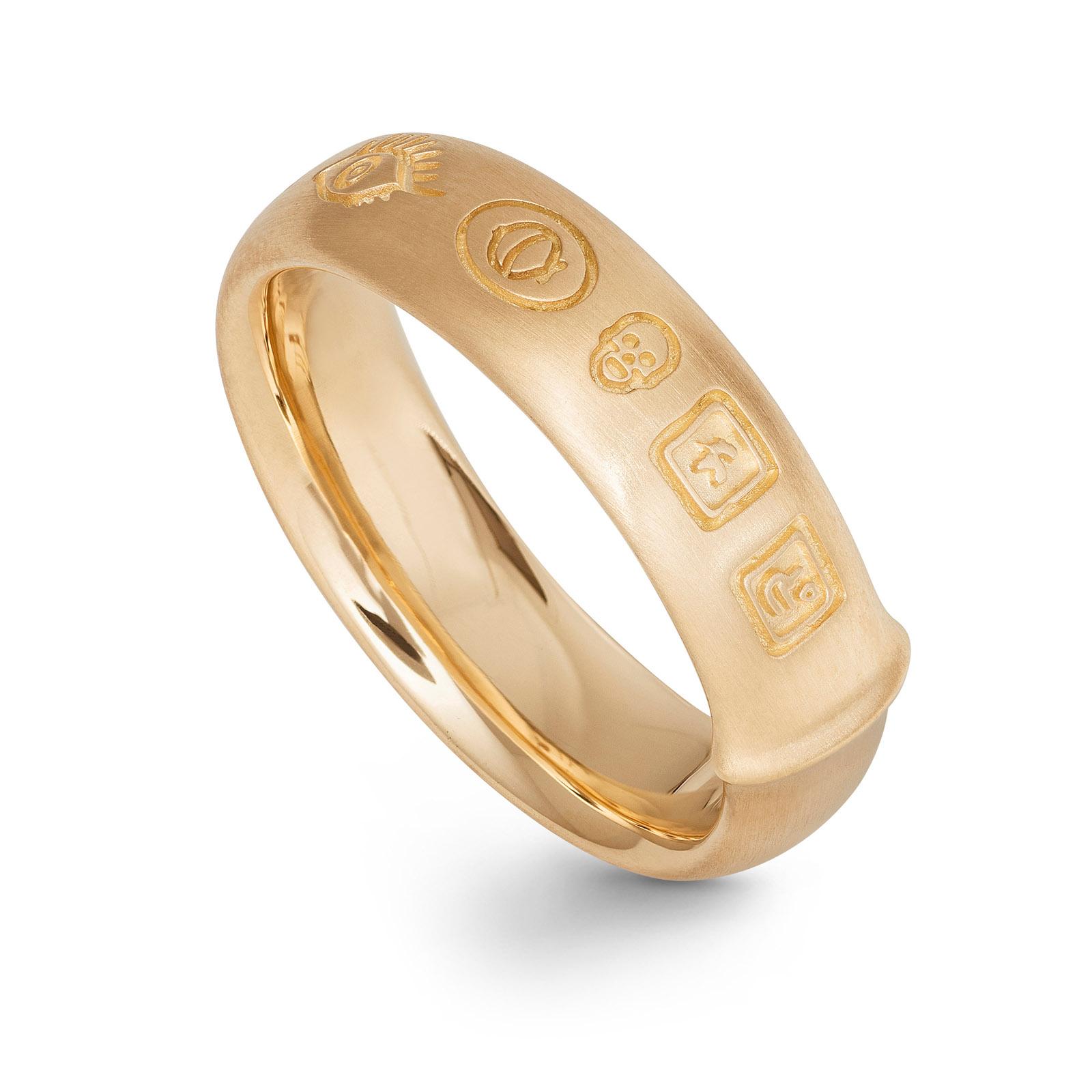 Mestergull Ring Julius i 18 kt. Gult gull LYNGGAARD Ring