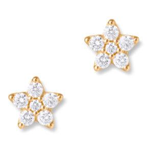 Mestergull Shooting Stars ørepynt giga i 18kt. gult gull med diamanter LYNGGAARD Shooting Stars Ørepynt