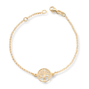 Mestergull Livets tre armbånd i rosèforgylt sølv GID Armbånd