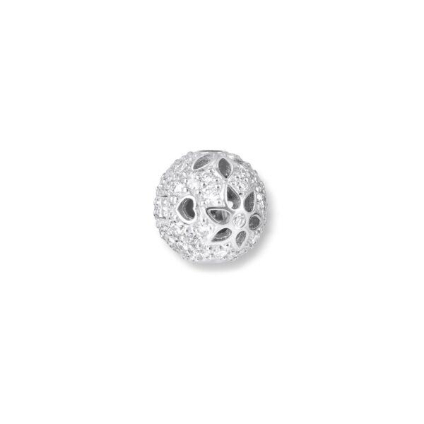 Mestergull Lace kulelås i 18 kt. hvitt gull, 54 diamanter totalt 0,70 ct. HSI TWVS LYNGGAARD Lace Anheng
