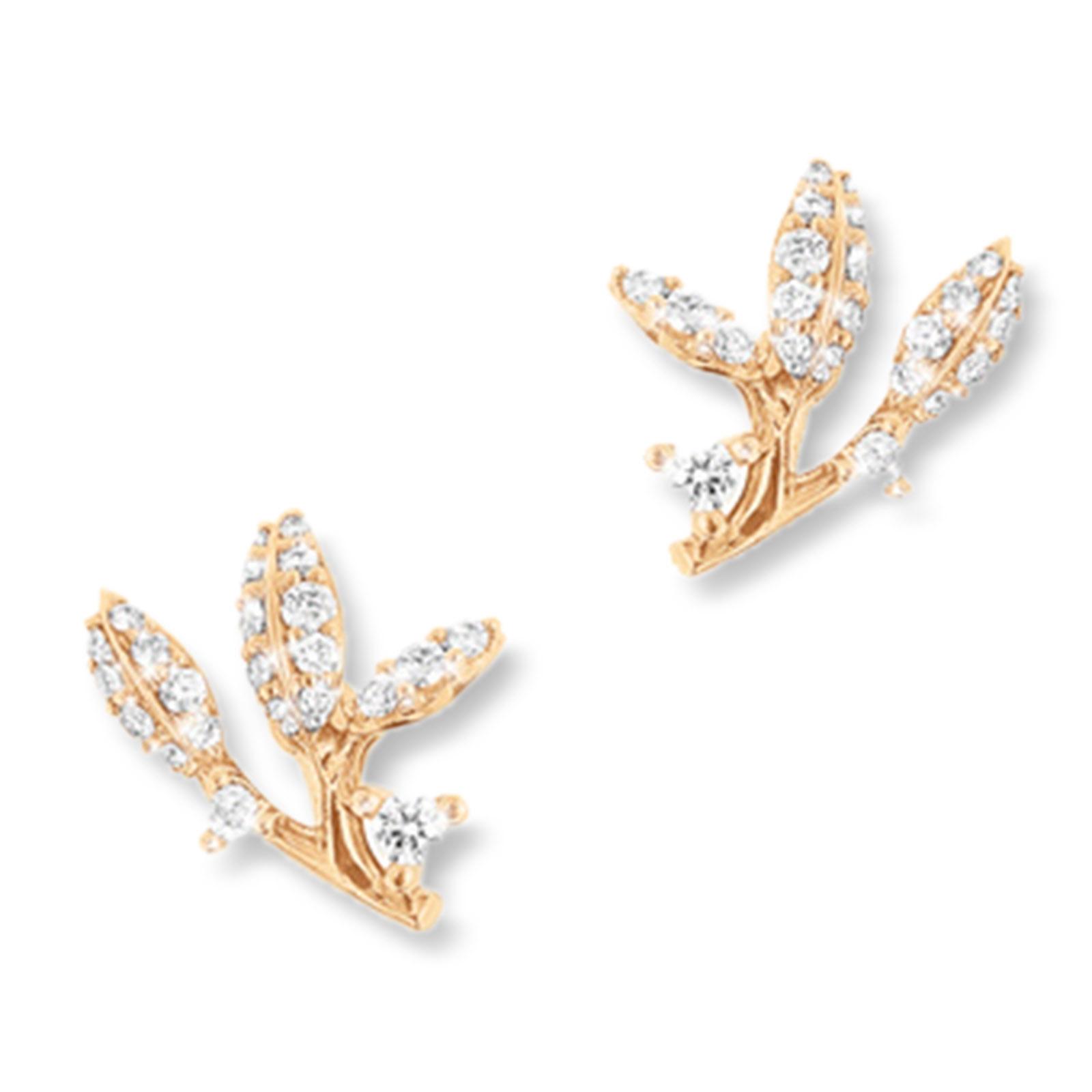 Mestergull Winter Frost ørepynt i 18kt gult gull med 46 diamanter, totalt 0,29ct TwVs LYNGGAARD Ørepynt
