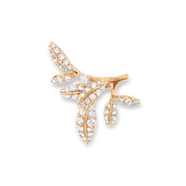 Mestergull Winter Frost vedheng til ørepynt i 18kt gult gull med 56 diamanter, totalt 0,30ct TwVs. Selges per stykk (høyre eller venstre) LYNGGAARD Ørepynt