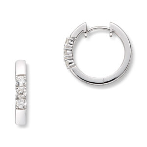Mestergull Klassiske allianse øreringer i hvitt gull med diamanter ALLIANSE Dia. 0,08 ct. Ørepynt