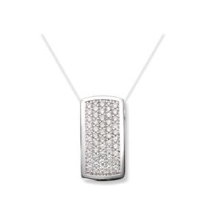 Mestergull Lekkert anheng i hvitt gull med diamanter MG DIAMONDS Anheng
