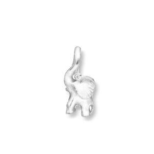 Mestergull Charm elefant i 18 K Hvitt gull med diamant 0,01 ct TwVs LYNGGAARD Sweet Drops Charm