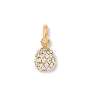 Mestergull Charm Sweet Drops i 18 K Gult gull pavért med 66 diamanter totalt 1,98 ct. TwVs LYNGGAARD Sweet Drops Charm