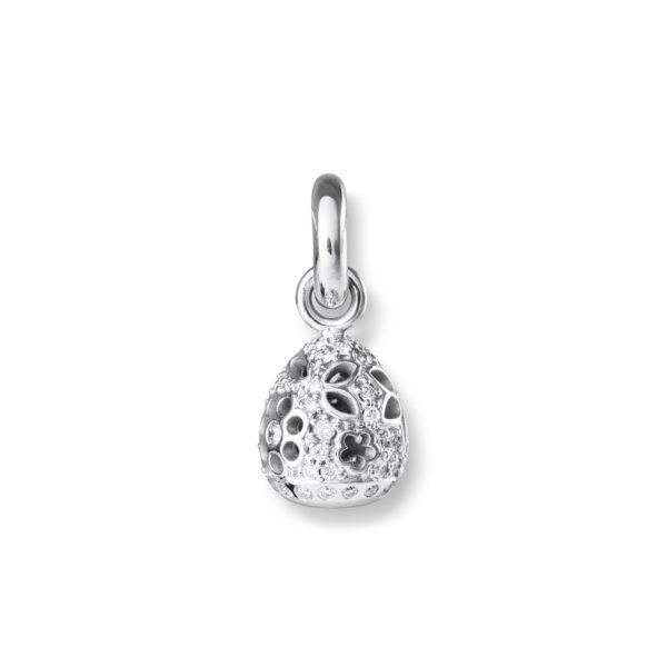 Mestergull Charm Sweet Drops i 18 kt Hvitt gull med 58 diamanter, totalt 0,58 ct. Tw.Vs LYNGGAARD Sweet Drops Charm