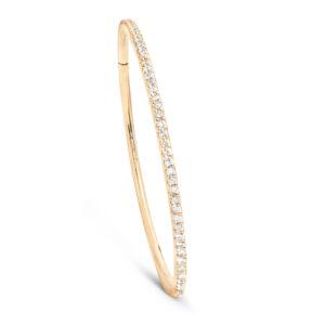 Mestergull Love armring i 18kt. gult gull med 91 - 100 diamanter totalt 1,81 - 1,99 ct. TwVs LYNGGAARD Love Armring