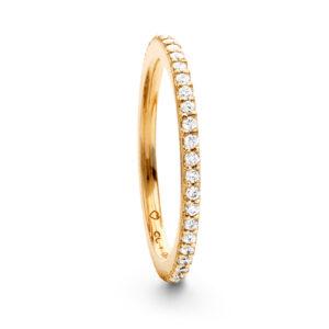 Mestergull Love Band rekkering i 18 K Gult gull med diamanter 0,40-0,47 ct. TwVs LYNGGAARD Love Ring