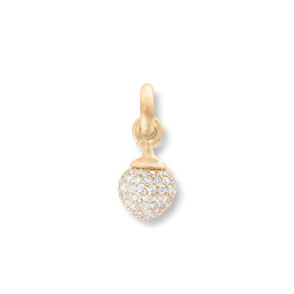 Mestergull Charm stor Sweet Drops i 18 K Gult gull pavé med 115 diamanter totalt 1,37 ct. TwVs LYNGGAARD Sweet Drops Charm