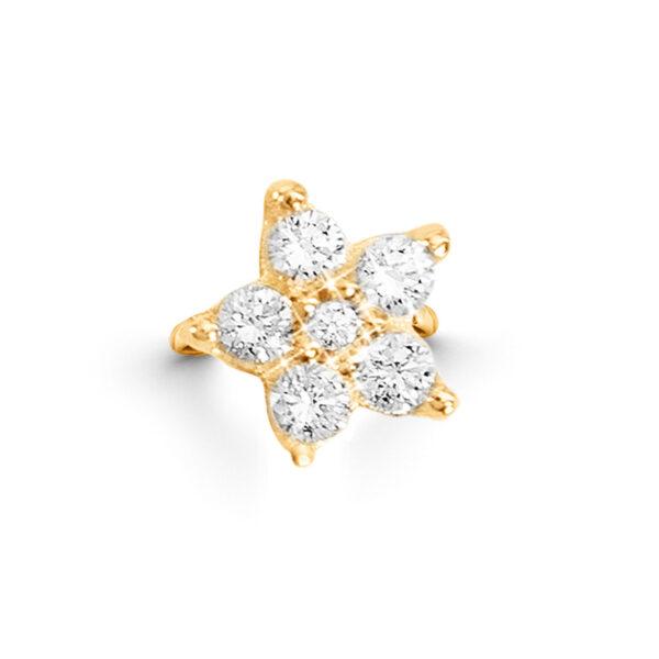 Mestergull Shooting Stars Sweet Spot i 18kt. gult gull med 6 diamanter totalt 0,49 ct. TwVs LYNGGAARD Sweet Spot Charm