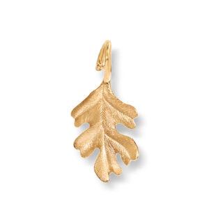 Mestergull Forest anheng i 18 K Gult gull eikeblad 3 cm LYNGGAARD Forest Anheng