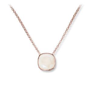 Mestergull Lekkert anheng i rosèforgylt sølv med krem krystall GID Anheng