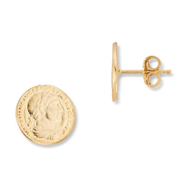 Mestergull Trendy ørepynt mynt i forgylt sølv GID Ørepynt