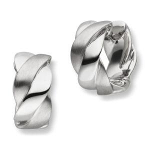 Mestergull Kraftige øreringer i rhodinert sølv VIVENTY Ørepynt