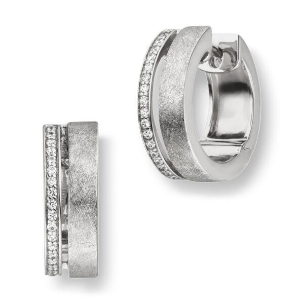 Mestergull Flotte øreringer i rhodinert sølv med cubic zirkonia VIVENTY Ørepynt