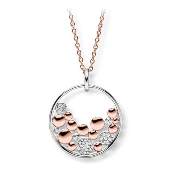 Mestergull Flott anheng i rhodinert ofr rosèforgylt sølv med cubic zirkonia VIVENTY Anheng