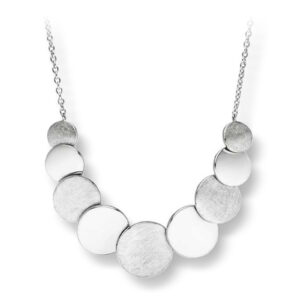 Mestergull Lekkert kjede i rhodinert sølv med matte og blanke felter VIVENTY Kjede