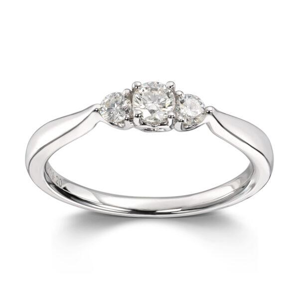Mestergull Nydelig frierringring i hvitt gull med diamanter MG DIAMONDS Ring