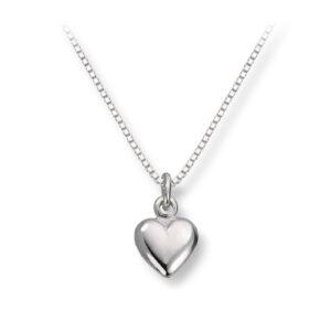 Mestergull Enkelt hjerteanheng i sølv MG BASIC Anheng