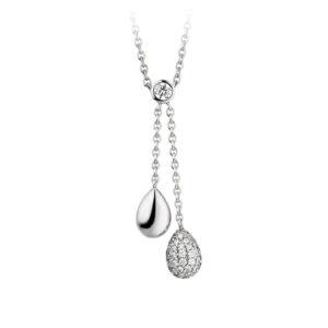 Mestergull Elegant kjede i rhodinert sølv med cubic zirkonia VIVENTY Kjede