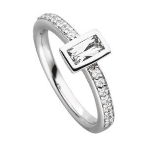 Mestergull Flott ring i rhodinert sølv med cubic zirkonia VIVENTY Ring