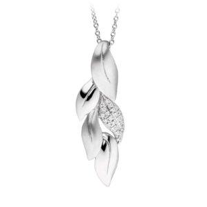 Mestergull Flott anheng i rhodinert sølv med cubic zirkonia VIVENTY Anheng