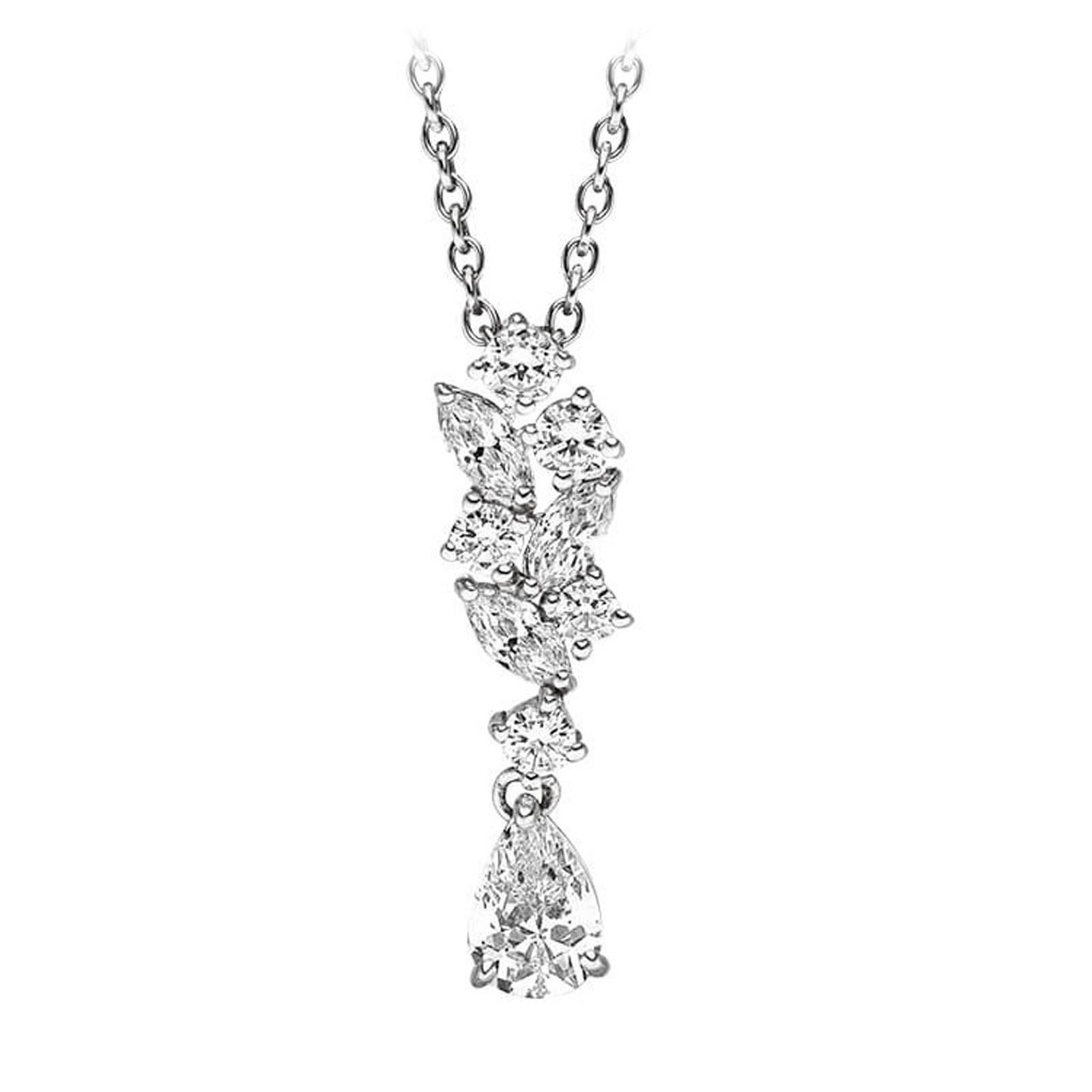 Mestergull Lekkert anheng i rhodinert sølv med cubic zirkonia VIVENTY Anheng