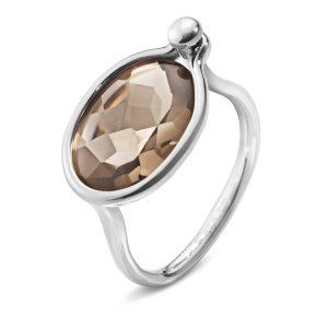 Mestergull Savannah Medium Ring i sølv med røkkvarts GEORG JENSEN Savannah Ring