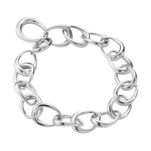 Mestergull Offspring armbånd i sølv GEORG JENSEN Offspring Armbånd